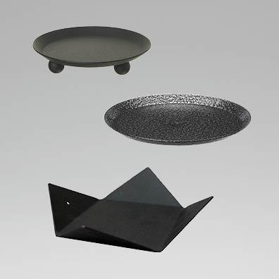 Ljusstakar med platt botten